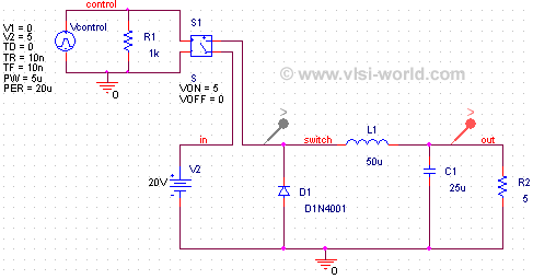 Step Down Converter Circuit